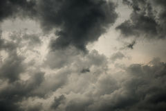 Dramatic black clouds , Dark clouds high contrast Stock Photos