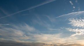 Dramatic blue evening sky background Stock Photo