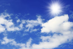 Dramatic blue sky Stock Photography