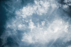 Dramatic blue sky with clouds Royalty Free Stock Photo