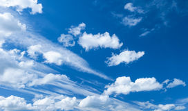 Dramatic blue sky with clouds Stock Image