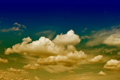 Dramatic blue sky with clouds Stock Photography