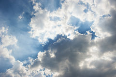 Dramatic blue sky Stock Image
