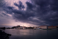 Dramatic Bratislava, Royalty Free Stock Photo