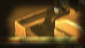 Dramatic camera movement while showing details of a typewriter stock footage
