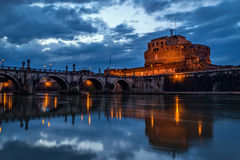 Dramatic Castel Sant'Angelo, Rome Royalty Free Stock Images