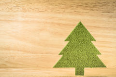 Dramatic christmas tree in wood room with space for adding your. Text stock photography