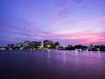 Dramatic cityscape twilight, Bangkok THAILAND Royalty Free Stock Image