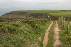 Coastal Path near Portreath, Cornwall UK royalty free stock photo
