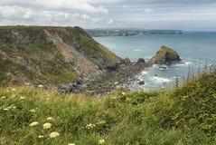 Coastal path Portreath to Godrevy, Cornwall UK royalty free stock image
