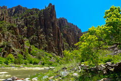Dramatic Cliffs of the Black Canyon Of the Gunnison River. Stock Photography