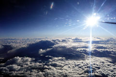 Dramatic Cloud Bank, View From Jet Aircraft Stock Photo