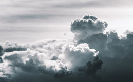 Dramatic cloud in desatuated tone Stock Images