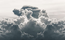 Dramatic cloud in desatuated tone Royalty Free Stock Photo