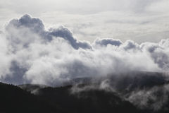 Dramatic cloud formation in the mountains Royalty Free Stock Image