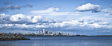 Dramatic Cloud over Toronto Stock Photography