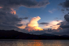 Dramatic cloud shape sunset Stock Images