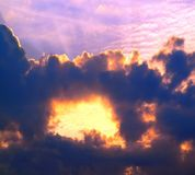 Dramatic Cloud and Sun Formation Royalty Free Stock Photography