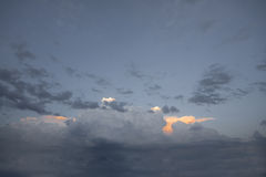 Dramatic clouds Royalty Free Stock Photos
