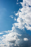 Dramatic clouds. On blue sky Royalty Free Stock Photography