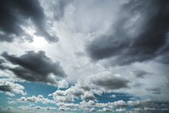 Dramatic clouds Royalty Free Stock Photography