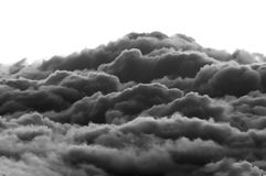 Dramatic Clouds. Dark heavenly clouds in the sky. This photograph was taken at 10,000 feet elevation and shows the clouds forming in a more dramatic way Stock Photo