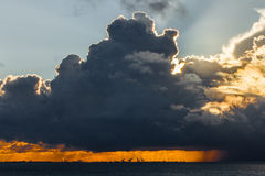 Dramatic Clouds. Dramatic sunset with the sun behind the clouds Royalty Free Stock Image