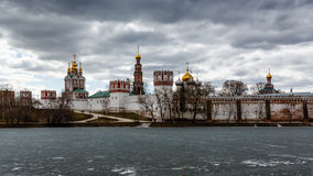 Dramatic Clouds above Novodevichy Convent, Moscow Royalty Free Stock Images