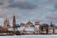 Dramatic Clouds above Novodevichy Convent, Moscow Stock Images