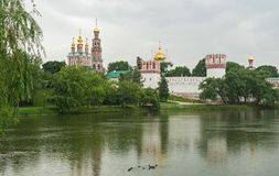 Dramatic Clouds above Novodevichy Convent, Moscow, Russia Stock Photography
