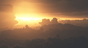 Dramatic Clouds from Above Stock Photos