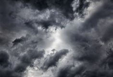 Dramatic Clouds Background Stock Photography
