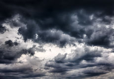 Dramatic Clouds Background Stock Photos