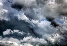 Dramatic Clouds Background Royalty Free Stock Images
