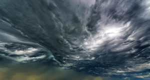 Dramatic Clouds Background Stock Image