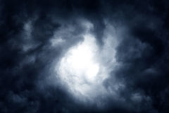 Dramatic Clouds Background Stock Photo