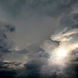Dramatic Clouds Background Royalty Free Stock Photo