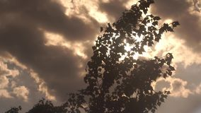 Dramatic clouds and beams of light stock video footage
