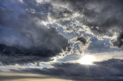 Dramatic clouds HDR image Royalty Free Stock Photography