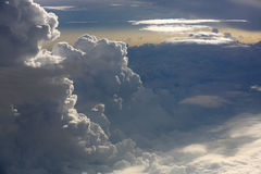 Dramatic clouds in the morning. Cloudscape Royalty Free Stock Photos
