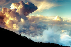 Dramatic clouds over Troodo mountains. Cyprus Stock Images