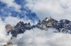 Dramatic clouds and peaks in the Alps Royalty Free Stock Photos