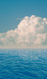 Dramatic clouds and sea. Composition dramatic clouds and sea Stock Photography