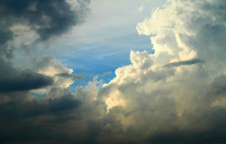 Dramatic clouds in sky Stock Photography
