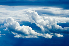 Dramatic clouds in the sky royalty free stock image
