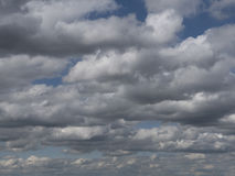 Dramatic clouds in the sky, cloudy skies with misty haze. Stock Photo