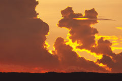 Dramatic clouds at sunset Stock Photography
