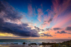 Dramatic clouds and sunset Royalty Free Stock Photos