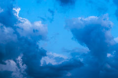 Dramatic clouds after thunderstorm Royalty Free Stock Images