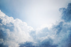 Dramatic cloudscape. With sunlight in the background Stock Images